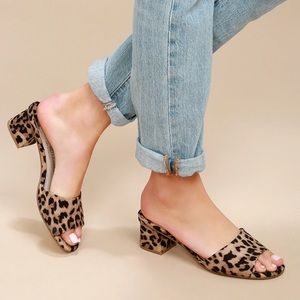 Chinese Laundry Leopard Slide Sandals